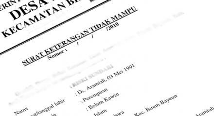 Persyaratan Pengajuan SKTM dan Surat Keterangan Lainya